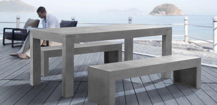 Elementy betonowe jako meble ogrodowe